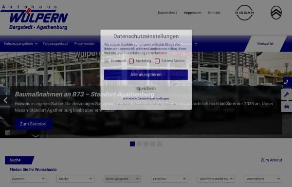 Vorschau von www.wuelpern.de, Autohaus Wülpern GmbH