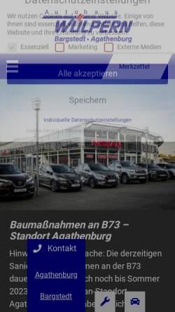 Vorschau der mobilen Webseite www.wuelpern.de, Autohaus Wülpern GmbH