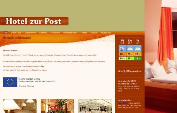 Vorschau von www.zur-post-calau.de, Hotel zur Post