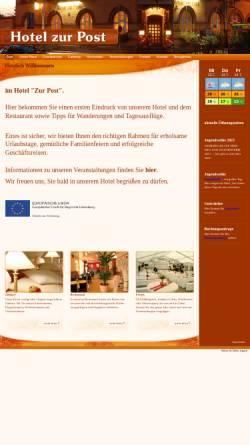 Vorschau der mobilen Webseite www.zur-post-calau.de, Hotel zur Post