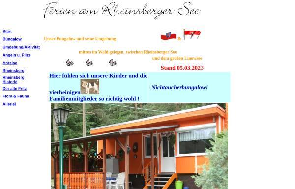 Vorschau von www.rheinsberger-see.de, Ferien am Rheinsberger See