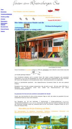 Vorschau der mobilen Webseite www.rheinsberger-see.de, Ferien am Rheinsberger See