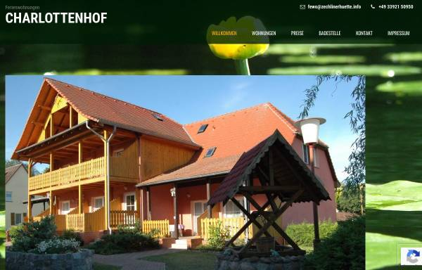 Vorschau von www.zechlinerhuette.info, Ferienwohnungen