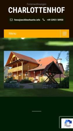 Vorschau der mobilen Webseite www.zechlinerhuette.info, Ferienwohnungen
