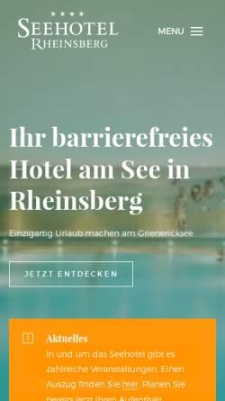 Vorschau der mobilen Webseite www.hausrheinsberg.de, Haus Rheinsberg - FDS Hotel gGmbH