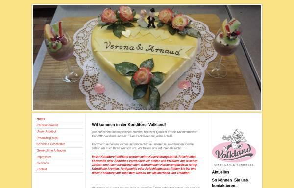 Vorschau von www.cafe-volkland.de, Stadt-Café und Konditorei Volkland