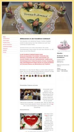 Vorschau der mobilen Webseite www.cafe-volkland.de, Stadt-Café und Konditorei Volkland