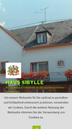 Vorschau der mobilen Webseite haussibylle.de, Gästehaus Sibylle
