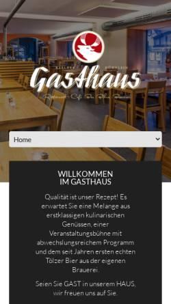 Vorschau der mobilen Webseite www.gasthaus-toelz.de, Gasthaus Tölz