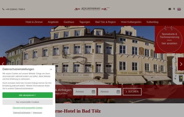 Vorschau von www.kolberbraeu.de, Posthotel Kolberbräu