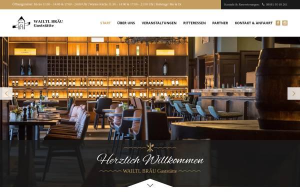 Vorschau von www.wailtl-gaststaette.de, Wailtl Bräu Gaststätte