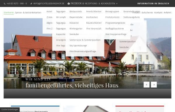 Vorschau von www.fichtelgebirgshof.de, Fichtelgebirgshof