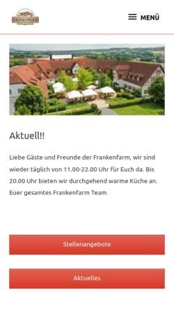 Vorschau der mobilen Webseite www.frankenfarm.de, Frankenfarm