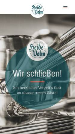 Vorschau der mobilen Webseite www.heidevolm.de, Gaststätte Heide-Volm