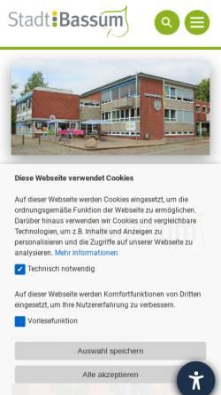 Vorschau der mobilen Webseite www.bassum.de, Bassum