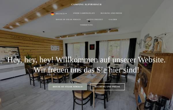 Vorschau von www.camping-alpirsbach.de, Camping Alpirsbach