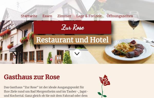 Vorschau von www.rose-stuppach.de, Gasthaus Zur Rose