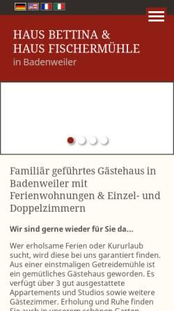 Vorschau der mobilen Webseite www.haus-fischermuehle.de, Haus Fischermuehle