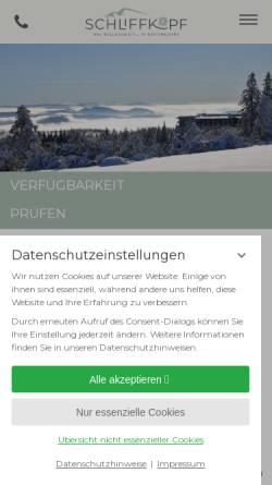 Vorschau der mobilen Webseite www.schliffkopf.de, Schliffkopf Wellness Hotel