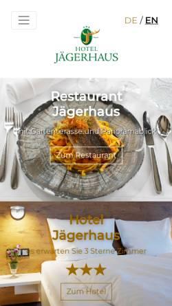 Vorschau der mobilen Webseite www.jaegerhaus-es.de, Höhenhotel Jägerhaus