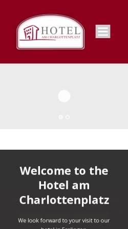 Vorschau der mobilen Webseite www.hotelamcharlottenplatz.de, Hotel am Charlottenplatz