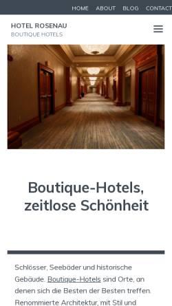 Vorschau der mobilen Webseite www.hotel-rosenau.de, Hotel Rosenau