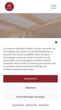 Vorschau der mobilen Webseite www.engel-hinterzarten.de, Gasthaus zum Engel