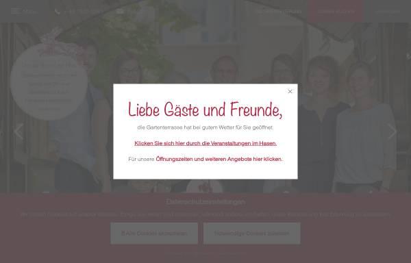 Vorschau von www.hasen.de, Hotel Restaurant Hasen