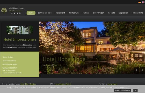 Vorschau von www.hohe-linde.de, Hotel Hohe Linde