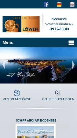 Vorschau der mobilen Webseite www.loewen-langenargen.de, Akzent Hotel Löwen