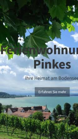 Vorschau der mobilen Webseite www.ferienwohnungen-pinkes.com, Ferienwohnungen Pinkes