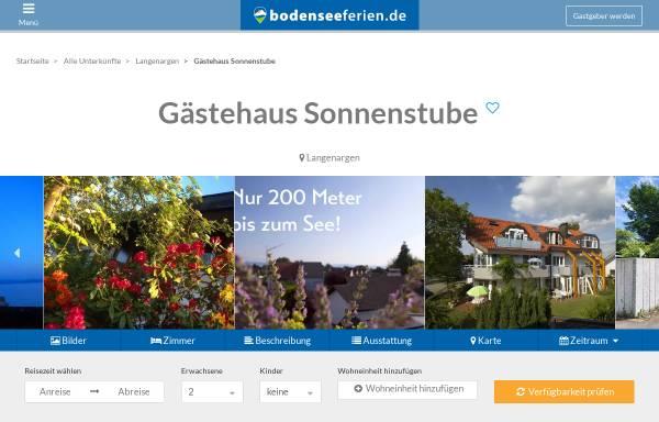 Vorschau von www.gaestehaus-sonnenstube.de, Gästehaus Sonnenstube