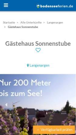 Vorschau der mobilen Webseite www.gaestehaus-sonnenstube.de, Gästehaus Sonnenstube