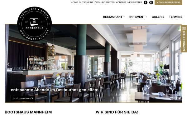 Vorschau von www.bootshaus.net, bootshaus Mannheim