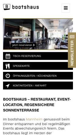 Vorschau der mobilen Webseite www.bootshaus.net, bootshaus Mannheim