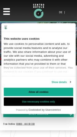 Vorschau der mobilen Webseite www.centro-hotels.de, Hotel Augusta