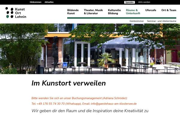 Vorschau von www.gaestehaus-am-klostersee.de, Hotel am Klostersee
