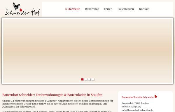 Vorschau von www.bauernhof-schneider.de, Bauernhof Schneider