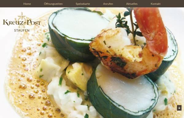 Vorschau von www.kreuz-post-staufen.de, Hotel-Gasthof Kreuz-Post