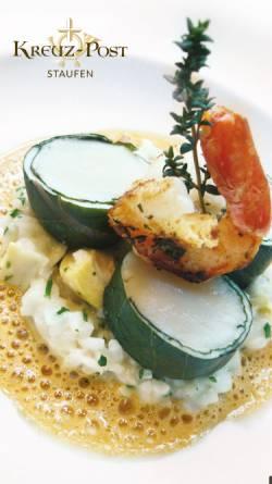 Vorschau der mobilen Webseite www.kreuz-post-staufen.de, Hotel-Gasthof Kreuz-Post