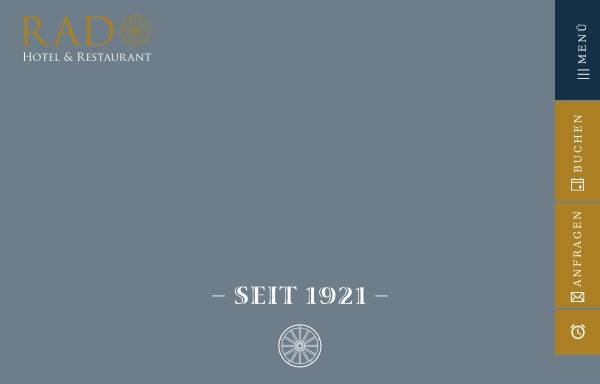 Vorschau von www.hotel-rad.com, Hotel Rad