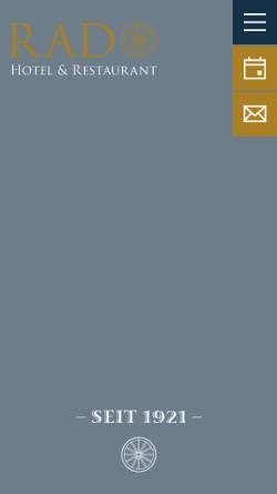 Vorschau der mobilen Webseite www.hotel-rad.com, Hotel Rad