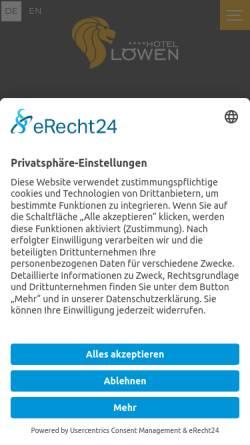 Vorschau der mobilen Webseite loewen-ulm.com, Gasthaus Löwen
