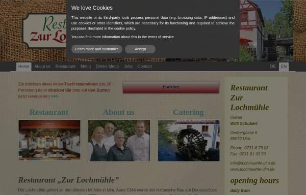 Vorschau von www.lochmuehle-ulm.de, Restaurant zur Lochmühle