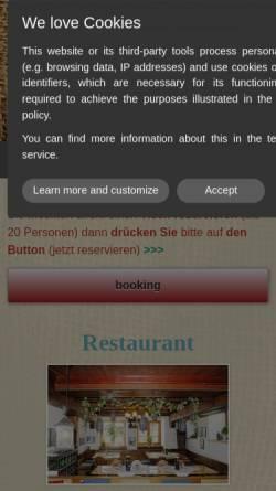 Vorschau der mobilen Webseite www.lochmuehle-ulm.de, Restaurant zur Lochmühle