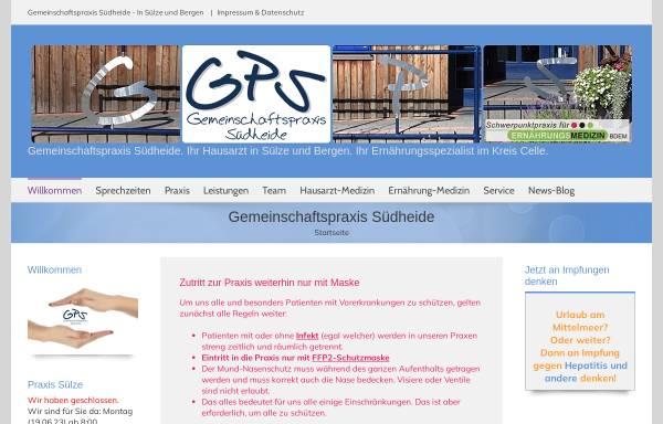 Vorschau von www.bergen-suelze.de, Gemeinschaftspraxis in Sülze