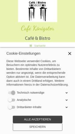 Vorschau der mobilen Webseite www.cafe-koenigstor.de, Café & Konditorei Königstor