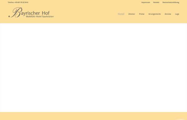 Vorschau von www.bayrischerhof-sb.de, Hotel Bayrischer Hof Rotenbühl