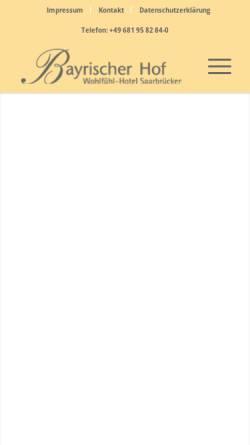 Vorschau der mobilen Webseite www.bayrischerhof-sb.de, Hotel Bayrischer Hof Rotenbühl