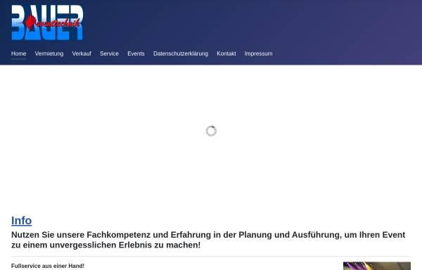 Vorschau von www.bauer-eventtechnik.de, Bauer Eventtechnik